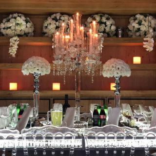 סידור פרחים יוקרתי לאירוע – חתונה